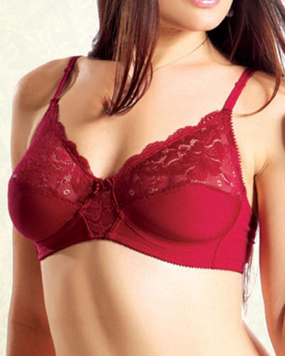 Pleasure Bra - Flourish Bra - Net Soft Jersey Cotton Bra - Non Padded Non Wired Bra