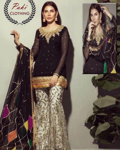 Rozina Munib Chiffon Collection (Replica)(Unstitched)