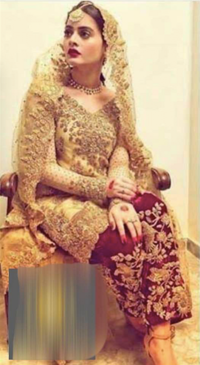Aiman Khan Wedding Collection Full Heavy Embroidery Net Suit With Embroidery Net Dupatta - Replica - Unstitched