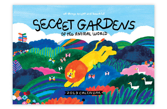 2019 Wall Calendar - Secret Gardens of the Animal World - The Tree Stationery & Co. 大樹文房