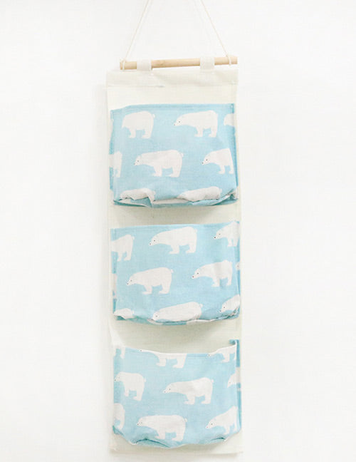 Light Blue Bear Storage Bag