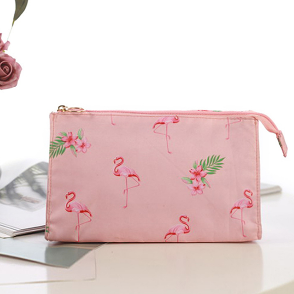 Portable Water Resistant Square Makeup Bag