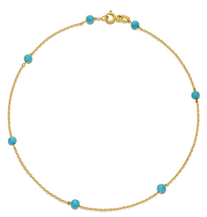 Something Blue - Turquoise anklet