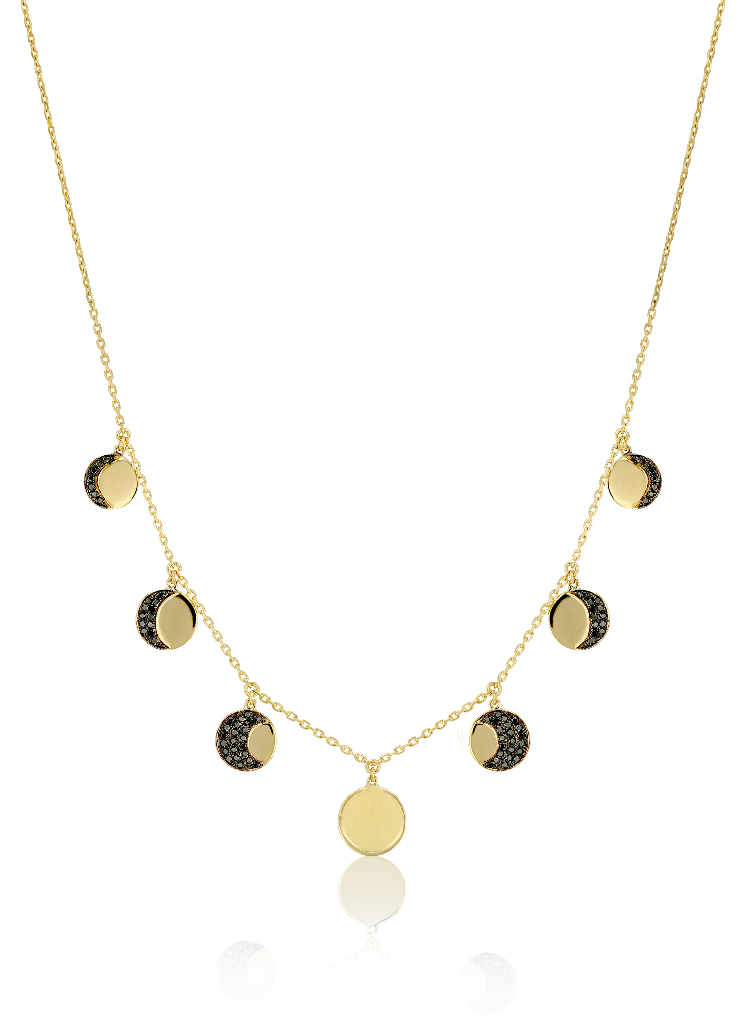 Moon Phase Black Diamond Choker