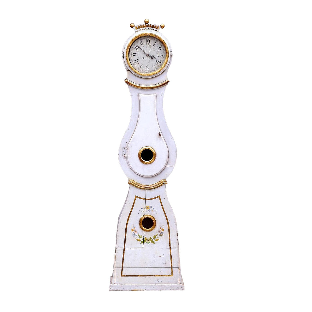 Mora Clock - Gustavian with crown
