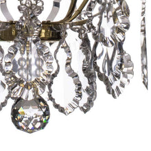 Bathroom Chandeliers - Polished Brass Bathroom Chandelier With Crystal Spears And Pendeloques