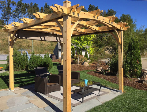 Outdoor Living Today Outdoor Living Today Arched Breeze Pergola Kit 10' x 12'