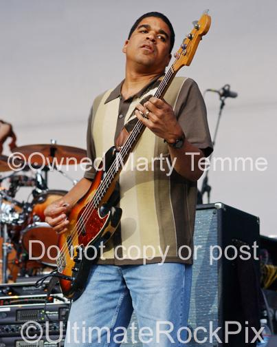Photos of Oteil Burbridge of The Allman Brothers Band by Photographer Marty Temme
