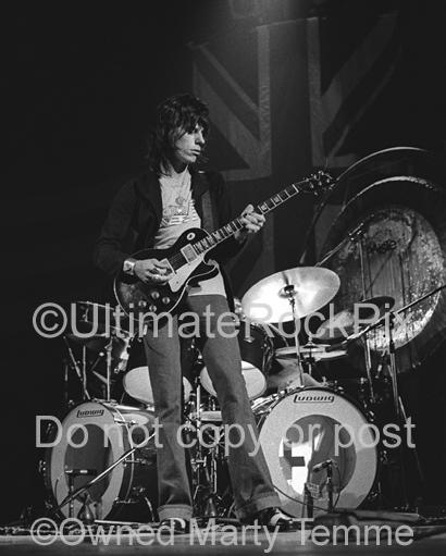 Limited Edition Prints of Jeff Beck numbered and signed by Marty Temme
