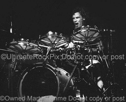 Photos of Bill Bruford of Yes and King Crimson in Concert in 1980 by Marty Temme