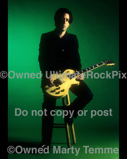 Photo of Troy Van Leeuwen of Failure during a photo shoot in 1996 by Marty Temme