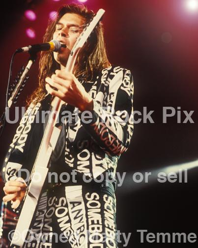 Photos of Guitar Player Paul Gilbert of Mr. Big in Concert in 1991 in Los Angeles, California by Marty Temme