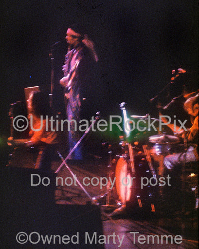 Photo of Jimi Hendrix, Mitch Mitchell and Noel Redding live in concert in 1969 by Marty Temme