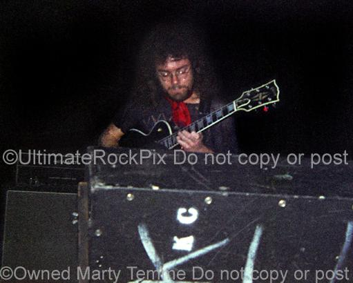Photos of Robert Fripp of King Crimson Playing a Gibson Les Paul in 1971 by Marty Temme