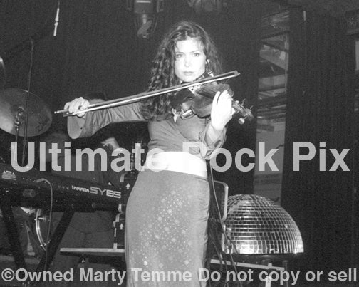 Photo of violinist Lily Haydn in concert in 2000 by Marty Temme