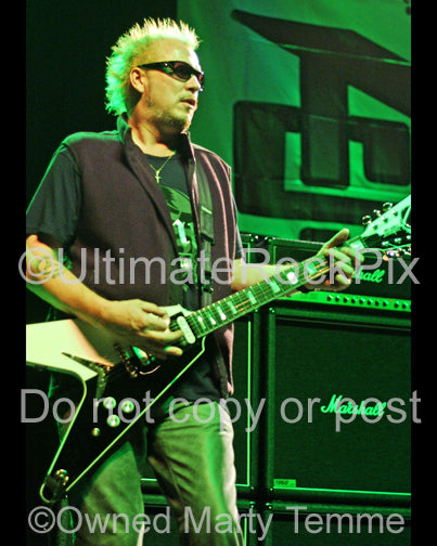 Photo of guitar player Michael Schenker in concert in 2007 by Marty Temme