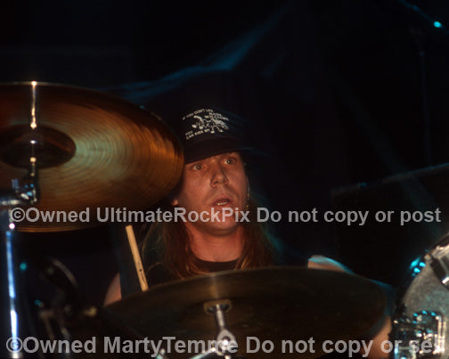 Photo of drummer Greg Rogers of The Obsessed in concert by Marty Temme