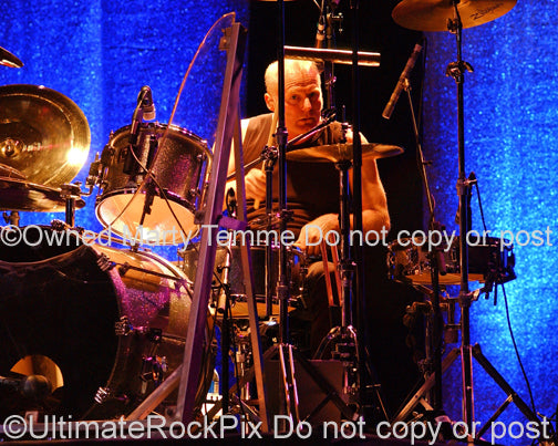 Photo of Martin Chambers of The Pretenders in concert in 2007 by Marty Temme