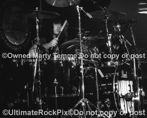 Photos of Drummer Frankie Banali of Quiet Riot in Concert in 1983 by Marty Temme