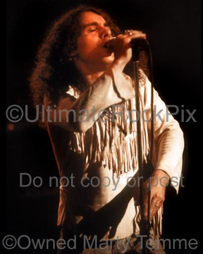 Photos of Ronnie James Dio of Rainbow Performing in Concert in 1978 by Marty Temme