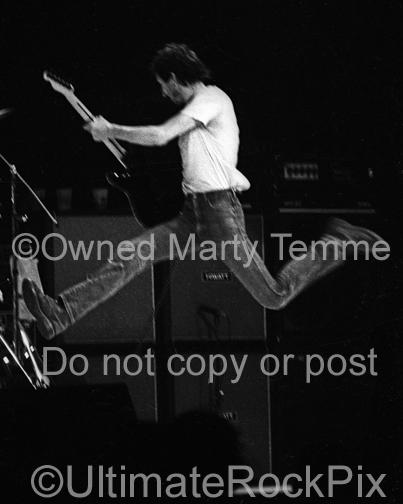 Photos of Pete Townshend of The Who Jumping Through the Air Onstage in 1980 by Marty Temme