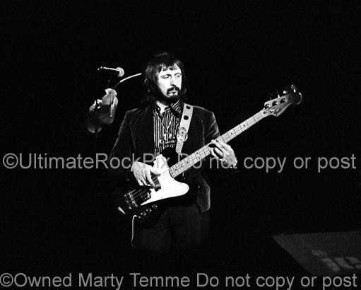 Photos of Bassist John Entwistle of The Who in Concert in 1974 by Marty Temme