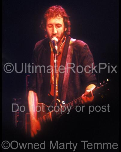Photos of Pete Townshend of The Who Playing a Gibson Les Paul in Concert in 1979 by Marty Temme