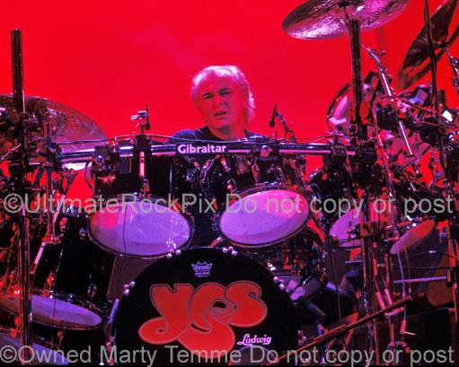 Photos of Drummer Alan White of the Band Yes Performing in Concert in 2003 by Marty Temme