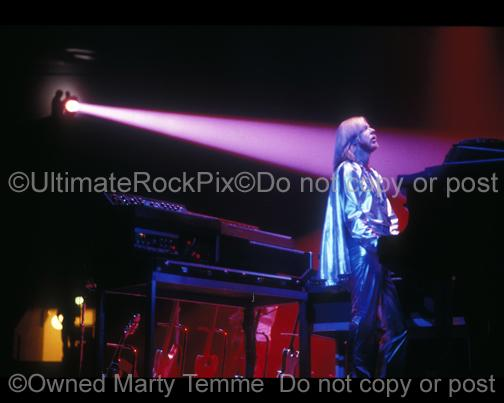Photos of Keyboard Player Rick Wakeman of Yes Performing Onstage in 1978 by Marty Temme