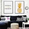 """Yesterday Today Tomorrow"" Pineapple Wall Canvas - Gifts Buddies Reviews"