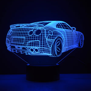 Nissan GTR/Skyline R34 3D LED Color-Changing Lamp