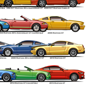All Stang Models Canvas Prints