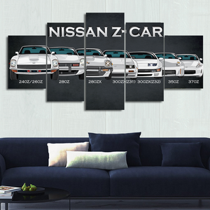 Nissan Z-car Canvas Wall Art