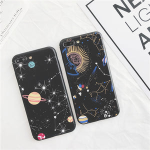 Space Planet 3D Relief Stars Constellation iPhone Cases