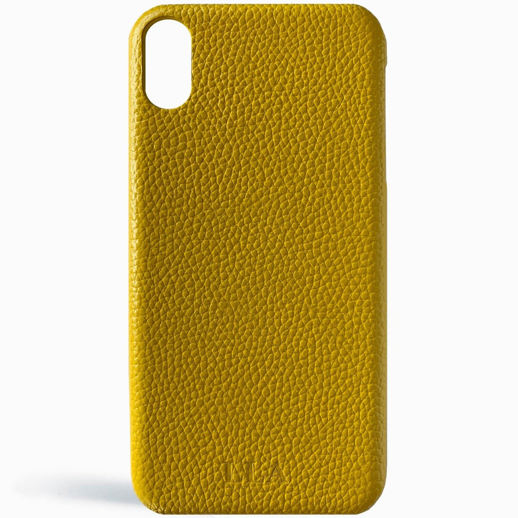 Yellow Top Grain Leather iPhone Case