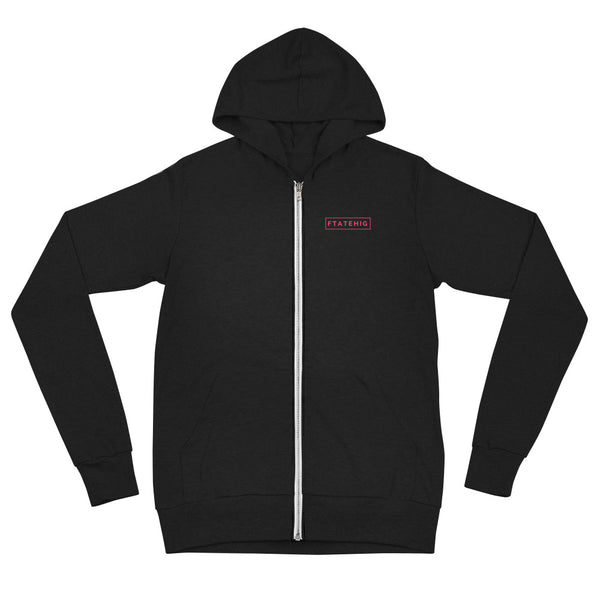 [ That /piNGk/ Rectangle ] Classic Zip Hoodie - Black - FTATEHIG