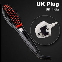 Hair Straightening Brush Black Uk Plug