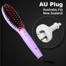 Hair Straightening Brush Violet Au Plug