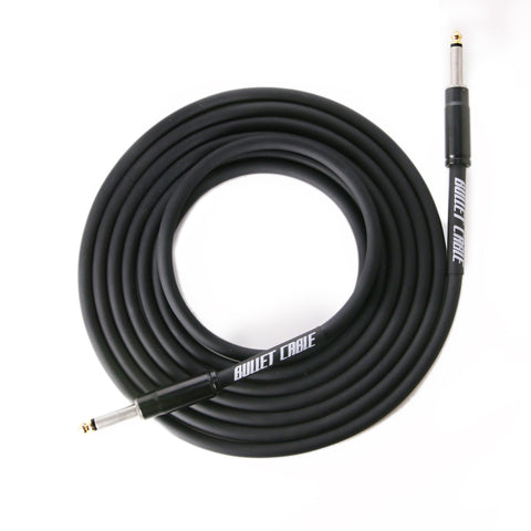BULLET CABLE 20′ STRAIGHT BLACK THUNDER GUITAR CABLE