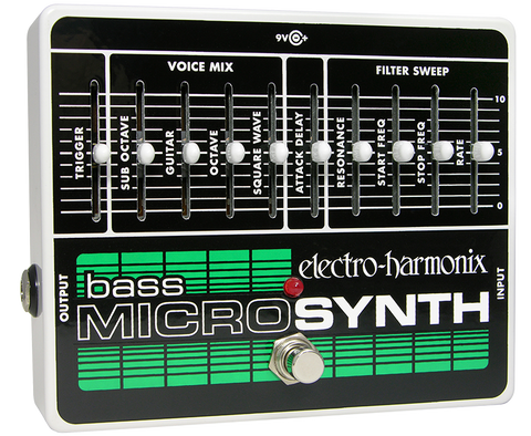 Electro-Harmonix Bass Micro Synthesizer Analog Microsynth Pedal Open Box Demo