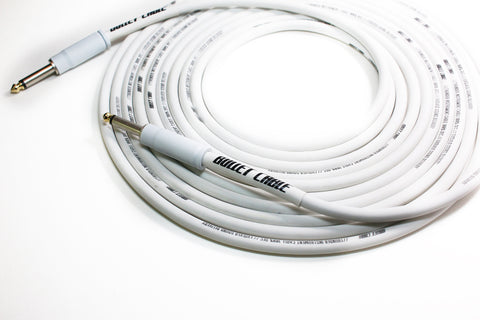 BULLET CABLE 20′ WHITE THUNDER GUITAR CABLE