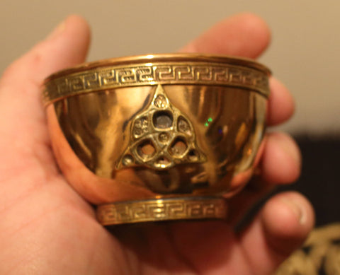 Copper Offering Bowl - Triquetra