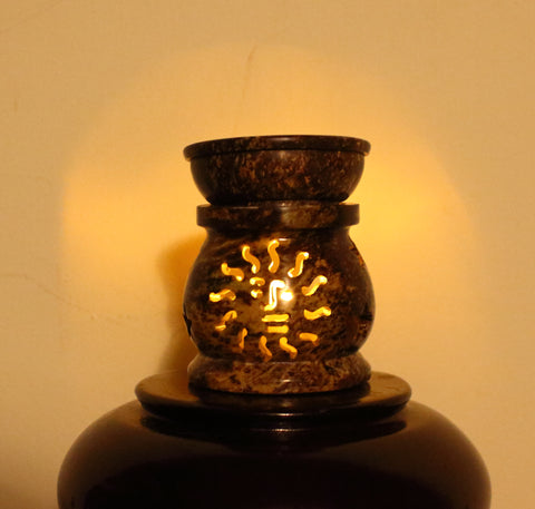 Soapstone Oil Burner - Sun
