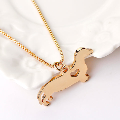 Dachsund Memorial Pendant Necklace