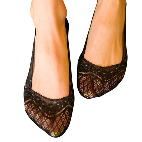 Cotton Lace Shoe Liner - 2 Pair