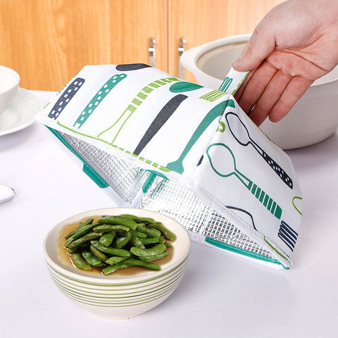 Foldable Aluminum Food Covers - Reusable and Insulated