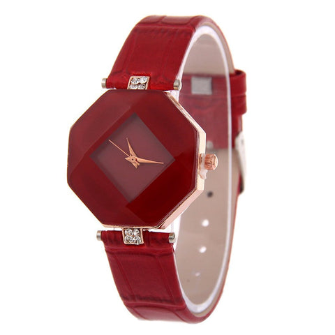 Decorative Gem-Cut Watch is Highly Attractive - Great for Dressing Up or Down
