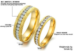 Fashion Frosted Gold Color Finger Rings