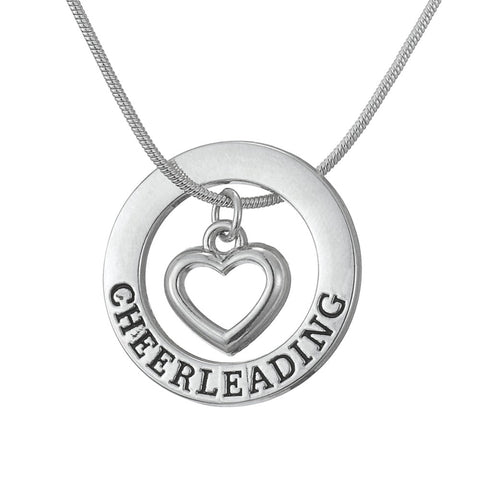 Cheerleading Pendant with Heart Center