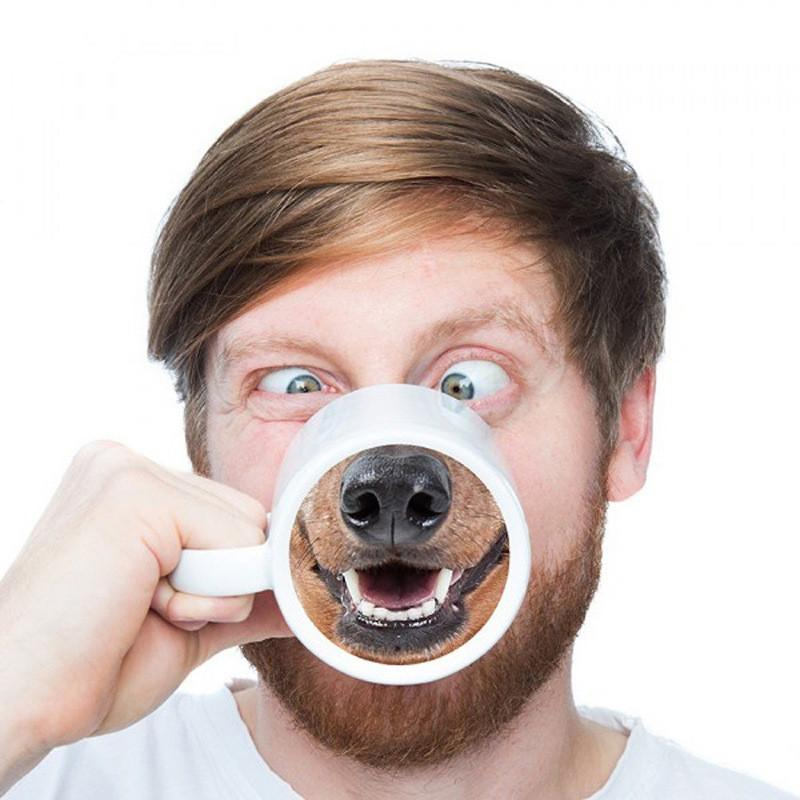 Dog Nose Ceramic Coffee Mug